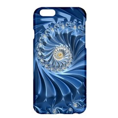 Blue Fractal Abstract Spiral Apple Iphone 6 Plus/6s Plus Hardshell Case