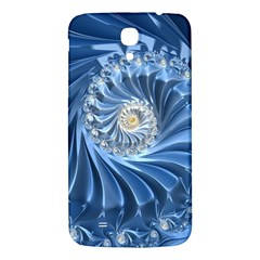 Blue Fractal Abstract Spiral Samsung Galaxy Mega I9200 Hardshell Back Case by Nexatart