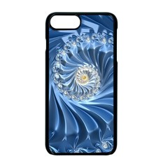 Blue Fractal Abstract Spiral Apple Iphone 7 Plus Seamless Case (black)