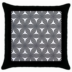 Seamless Pattern Repeat Line Throw Pillow Case (black)