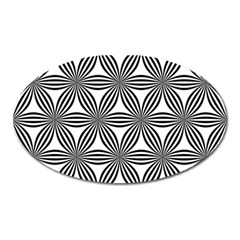 Seamless Pattern Repeat Line Oval Magnet by Nexatart
