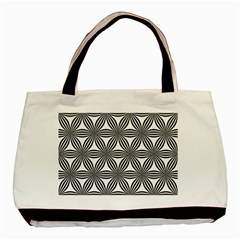 Seamless Pattern Repeat Line Basic Tote Bag