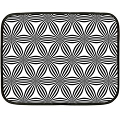 Seamless Pattern Repeat Line Double Sided Fleece Blanket (mini)
