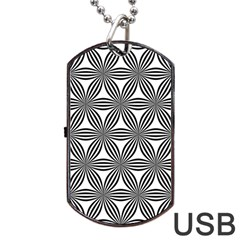 Seamless Pattern Repeat Line Dog Tag Usb Flash (two Sides)