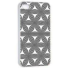 Seamless Pattern Repeat Line Apple Iphone 4/4s Seamless Case (white)