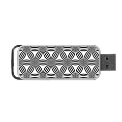 Seamless Pattern Repeat Line Portable Usb Flash (one Side) by Nexatart