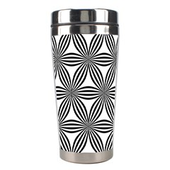 Seamless Pattern Repeat Line Stainless Steel Travel Tumblers