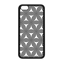 Seamless Pattern Repeat Line Apple Iphone 5c Seamless Case (black) by Nexatart
