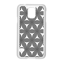 Seamless Pattern Repeat Line Samsung Galaxy S5 Case (white)