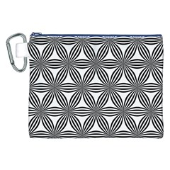 Seamless Pattern Repeat Line Canvas Cosmetic Bag (xxl) by Nexatart