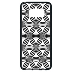 Seamless Pattern Repeat Line Samsung Galaxy S8 Black Seamless Case by Nexatart