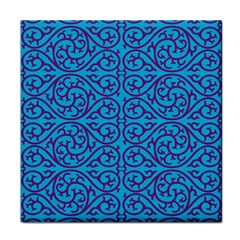 Monogram Blue Purple Background Tile Coasters