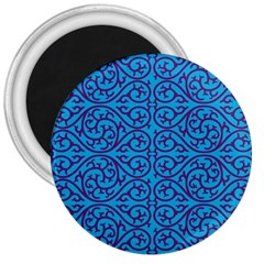 Monogram Blue Purple Background 3  Magnets