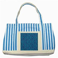 Monogram Blue Purple Background Striped Blue Tote Bag