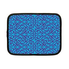Monogram Blue Purple Background Netbook Case (small)