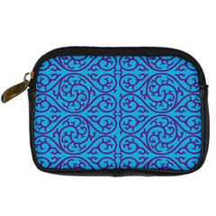 Monogram Blue Purple Background Digital Camera Cases by Nexatart