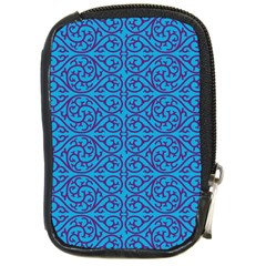Monogram Blue Purple Background Compact Camera Cases