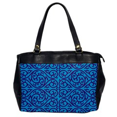 Monogram Blue Purple Background Office Handbags by Nexatart