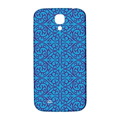 Monogram Blue Purple Background Samsung Galaxy S4 I9500/i9505  Hardshell Back Case