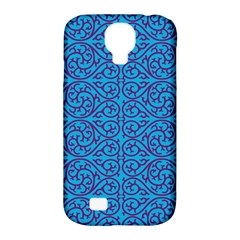 Monogram Blue Purple Background Samsung Galaxy S4 Classic Hardshell Case (pc+silicone)