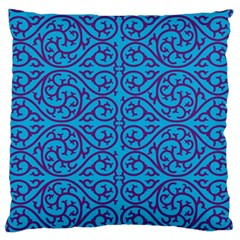 Monogram Blue Purple Background Standard Flano Cushion Case (two Sides)