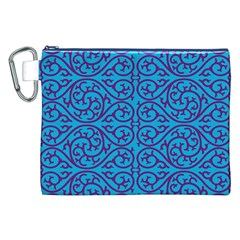 Monogram Blue Purple Background Canvas Cosmetic Bag (xxl) by Nexatart