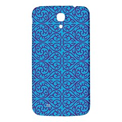 Monogram Blue Purple Background Samsung Galaxy Mega I9200 Hardshell Back Case by Nexatart