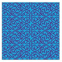 Monogram Blue Purple Background Large Satin Scarf (square)