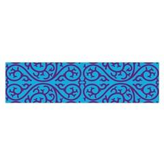 Monogram Blue Purple Background Satin Scarf (oblong)