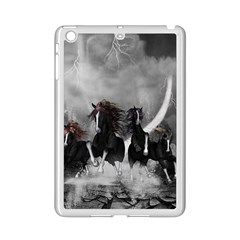 Awesome Wild Black Horses Running In The Night Ipad Mini 2 Enamel Coated Cases by FantasyWorld7