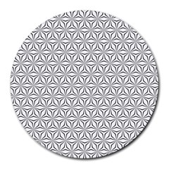 Seamless Pattern Monochrome Repeat Round Mousepads