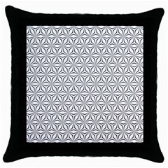Seamless Pattern Monochrome Repeat Throw Pillow Case (black)