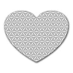 Seamless Pattern Monochrome Repeat Heart Mousepads by Nexatart