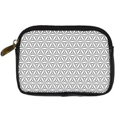 Seamless Pattern Monochrome Repeat Digital Camera Cases by Nexatart