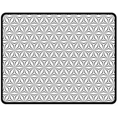 Seamless Pattern Monochrome Repeat Fleece Blanket (medium)