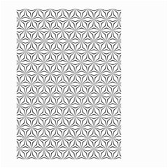 Seamless Pattern Monochrome Repeat Small Garden Flag (two Sides) by Nexatart
