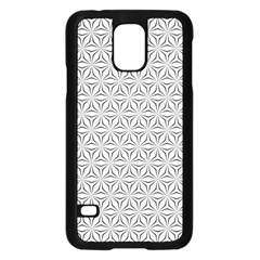 Seamless Pattern Monochrome Repeat Samsung Galaxy S5 Case (black)