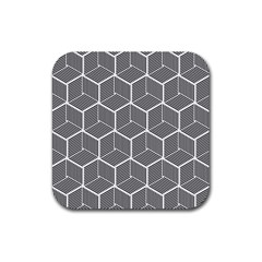 Cube Pattern Cube Seamless Repeat Rubber Coaster (square)  by Nexatart