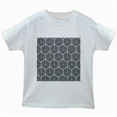 Cube Pattern Cube Seamless Repeat Kids White T Shirts