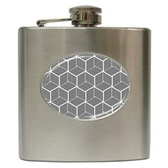 Cube Pattern Cube Seamless Repeat Hip Flask (6 Oz)