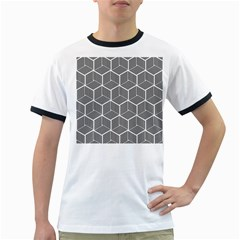Cube Pattern Cube Seamless Repeat Ringer T Shirts