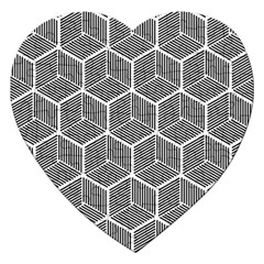 Cube Pattern Cube Seamless Repeat Jigsaw Puzzle (heart)