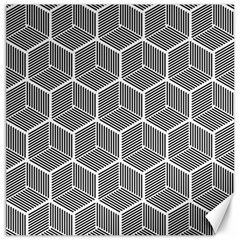 Cube Pattern Cube Seamless Repeat Canvas 16  X 16