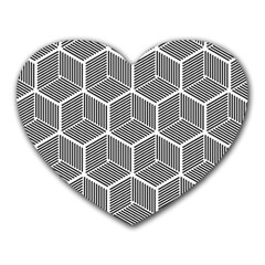 Cube Pattern Cube Seamless Repeat Heart Mousepads