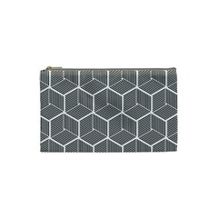 Cube Pattern Cube Seamless Repeat Cosmetic Bag (small)  by Nexatart