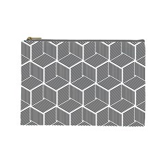 Cube Pattern Cube Seamless Repeat Cosmetic Bag (large)