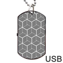 Cube Pattern Cube Seamless Repeat Dog Tag Usb Flash (two Sides)