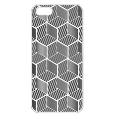 Cube Pattern Cube Seamless Repeat Apple Iphone 5 Seamless Case (white)