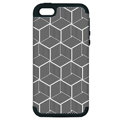 Cube Pattern Cube Seamless Repeat Apple Iphone 5 Hardshell Case (pc+silicone) by Nexatart