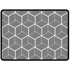 Cube Pattern Cube Seamless Repeat Double Sided Fleece Blanket (large)  by Nexatart